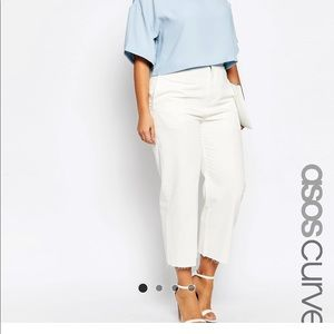 ASOS CURVE High Waist Wide Leg Jeans